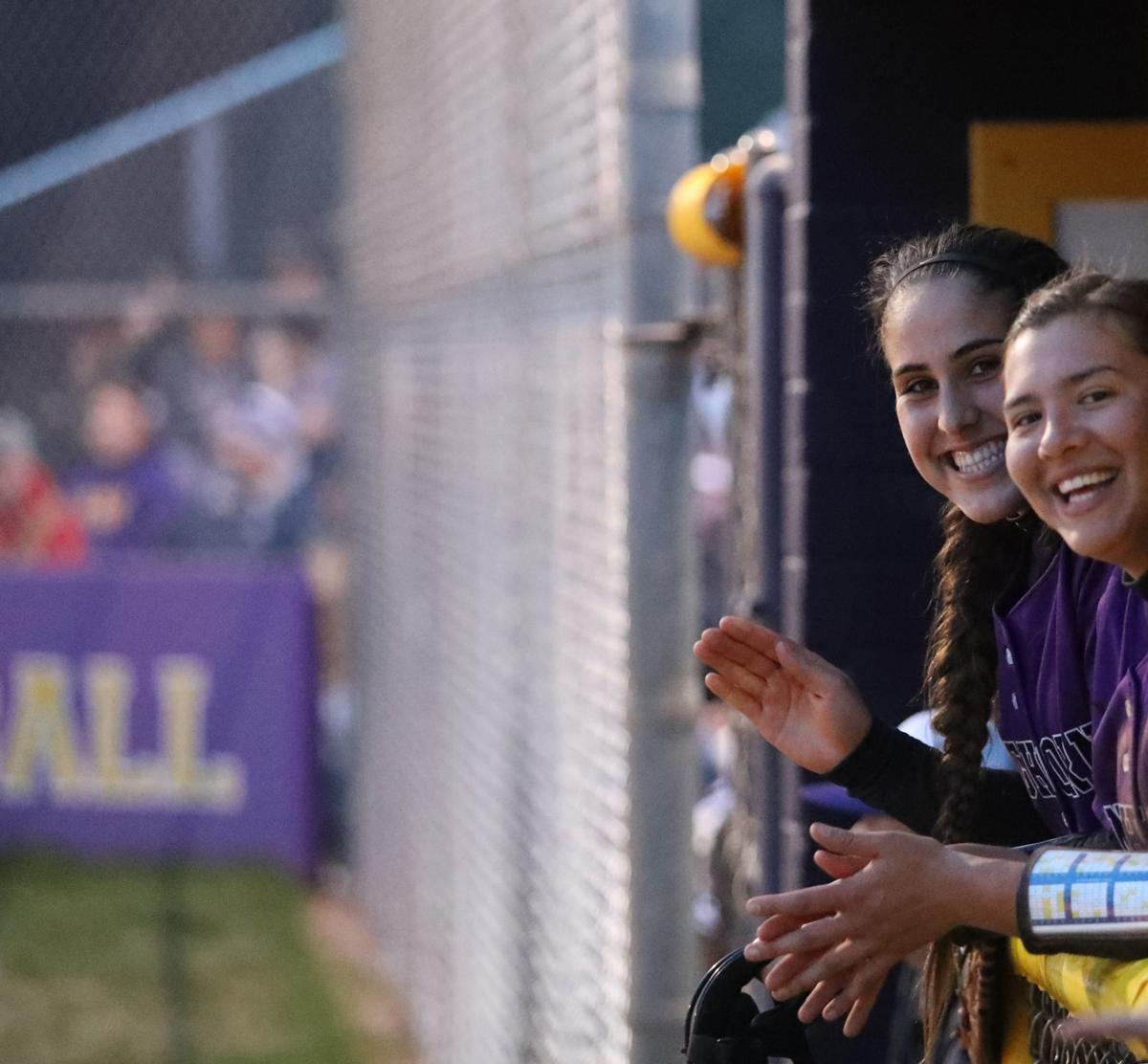 Softball Raci Miranda and Chanci Landress Smiling 2019
