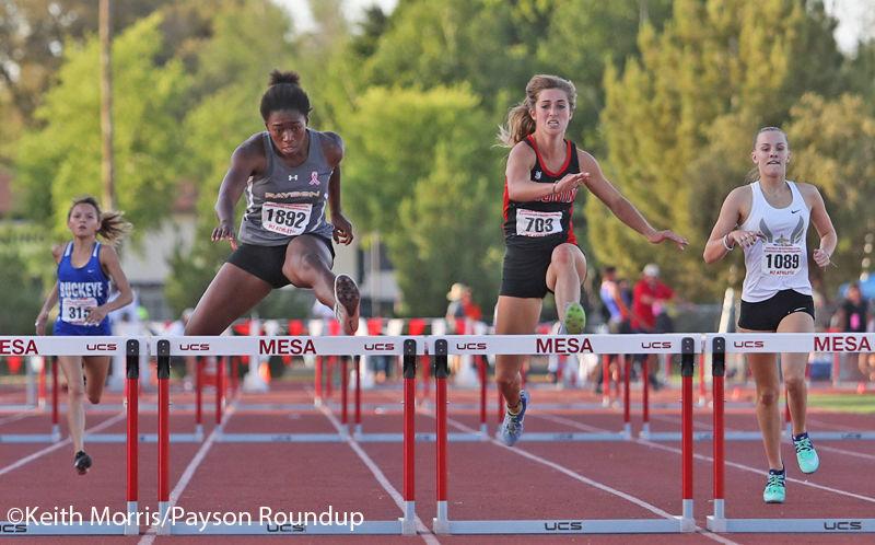 Track Girls 300 Hurdles State Meet Final Hurdle Low Rez