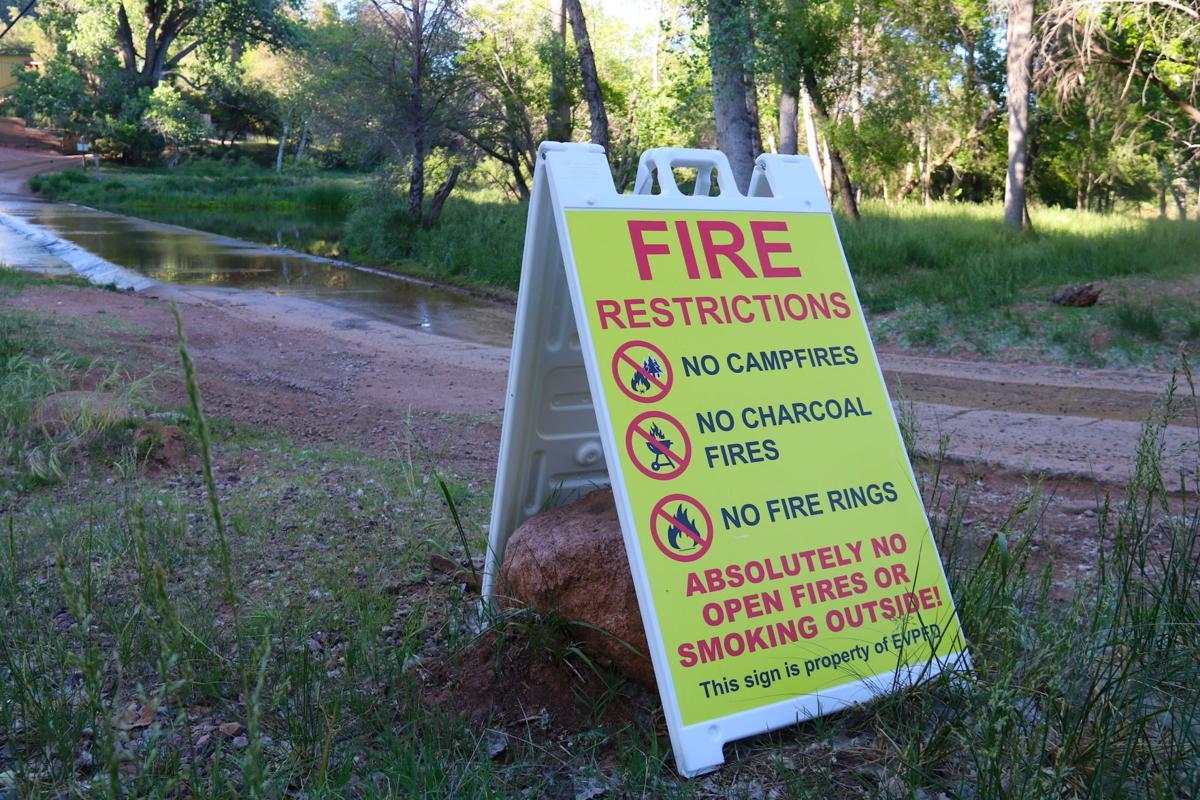 East Verde Estates Fire restriction sign 2020