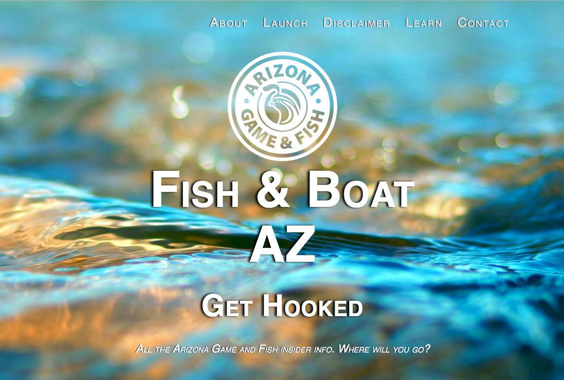 Fish & Boat AZ home page screenshot