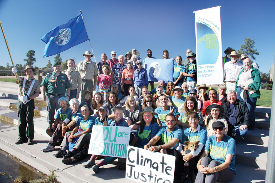 Climate change marchers seek to raise awareness