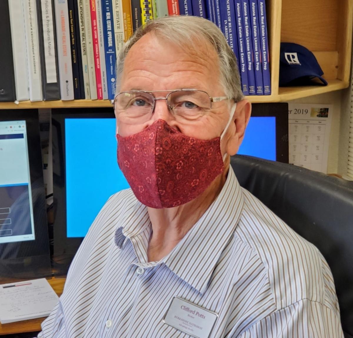 Cliff Potts in mask