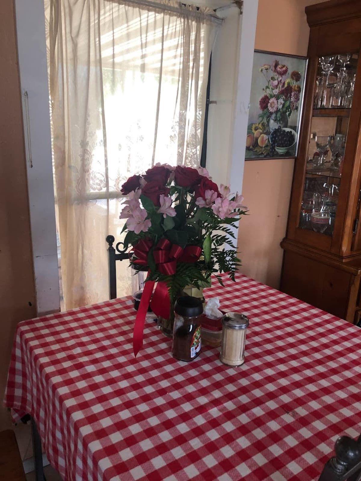 Roses in Irene's home