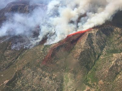 Air attack on the Highline Fire