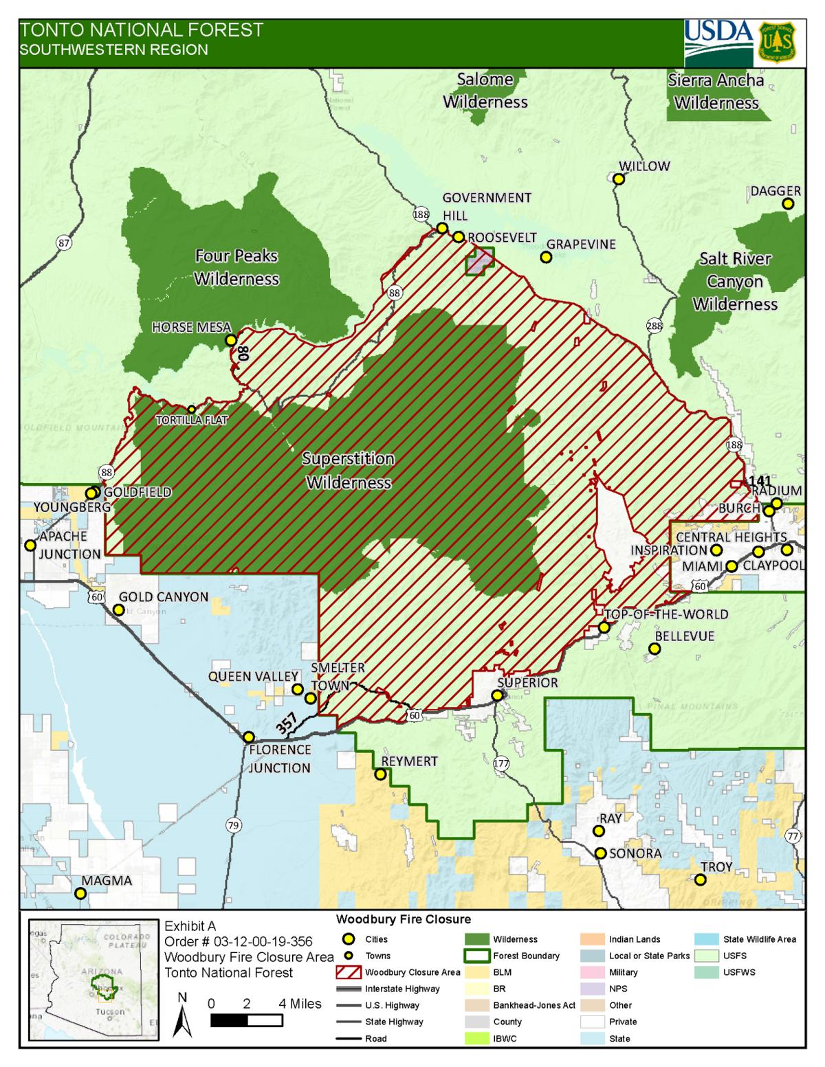 Woodbury Fire Closures Update July 2