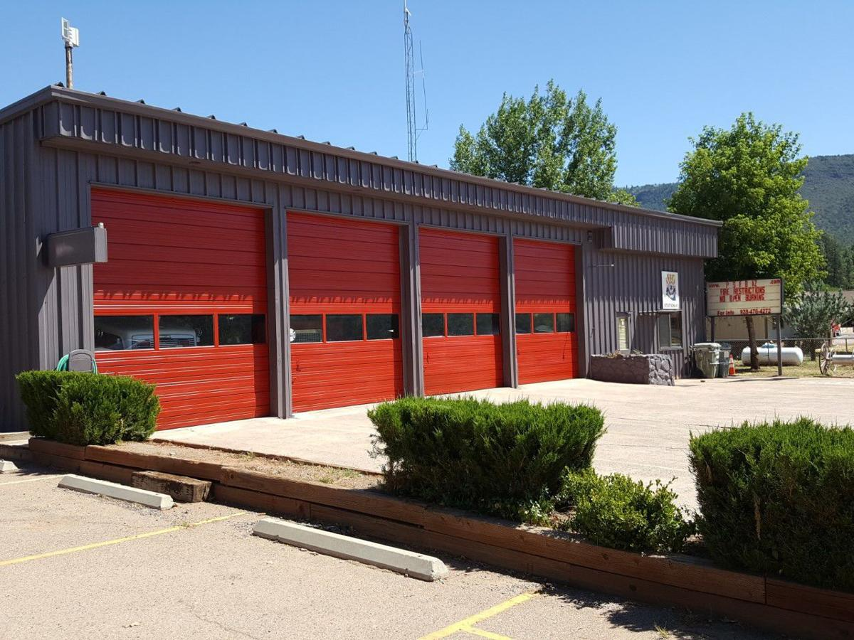 Pine column fire station