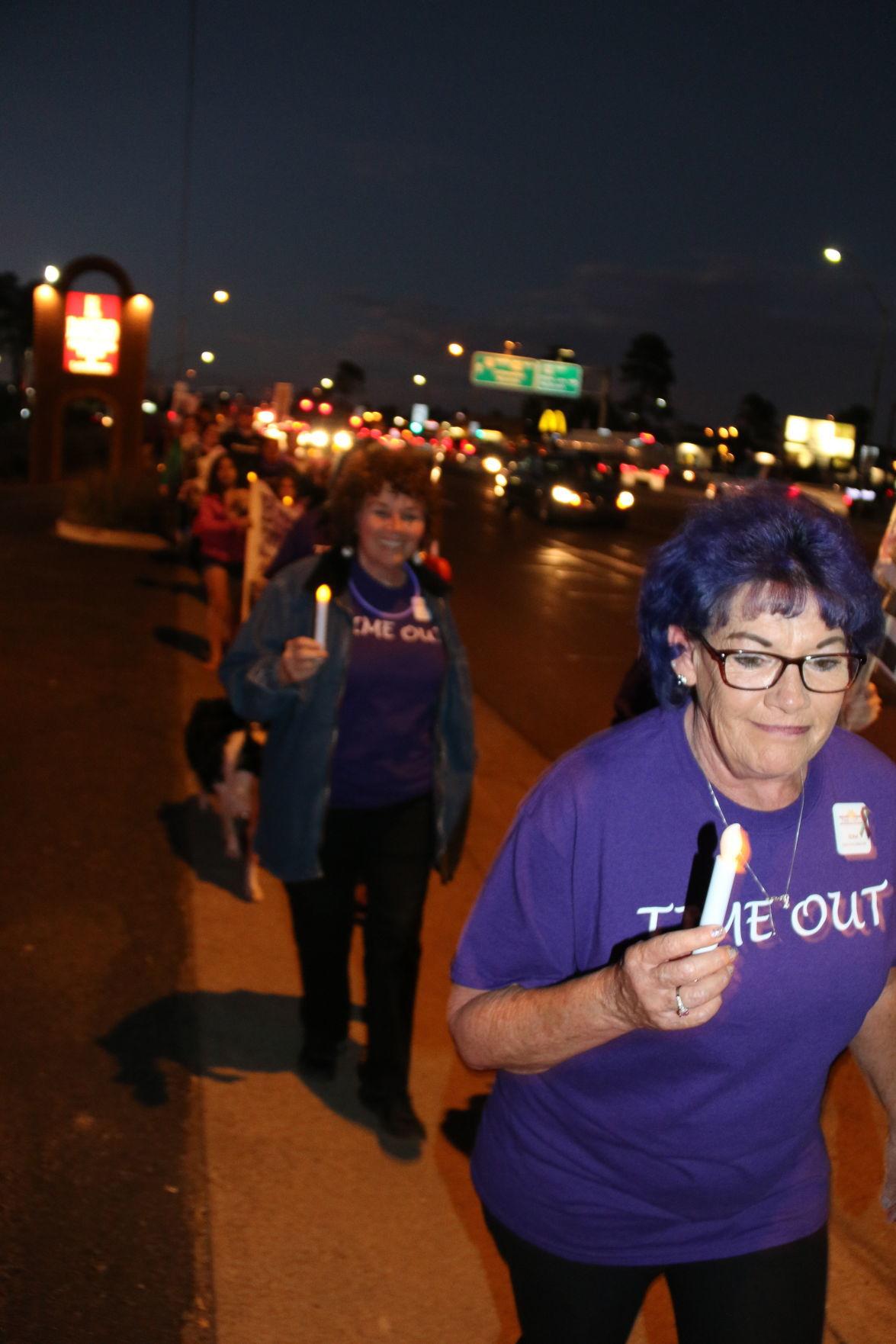 Edna at Domestic Violence March 2017