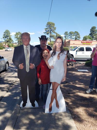 Trump cutout