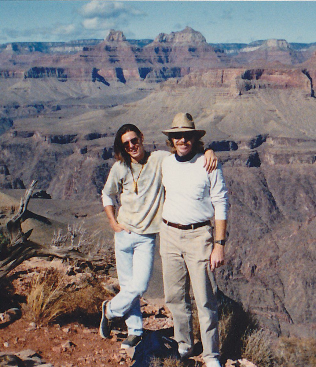 Noel Schuderer with his father, John at the Grand Canyon