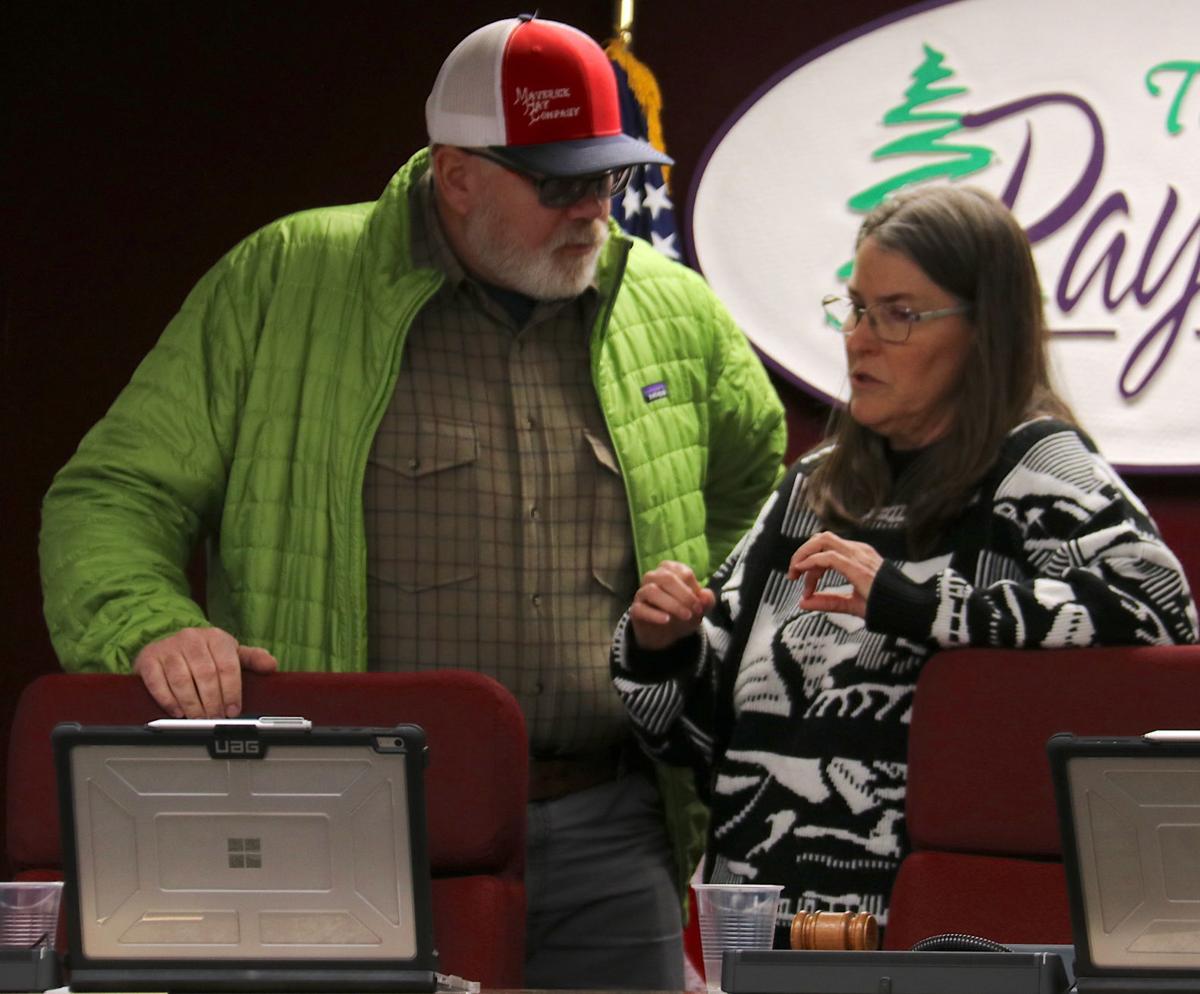 Chris Higgins and town staff Feb 4 meeting