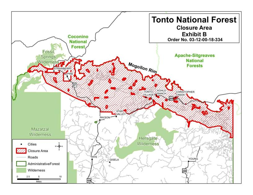 Tonto National Forest closures start Wednesday May 23 at 6 am ...