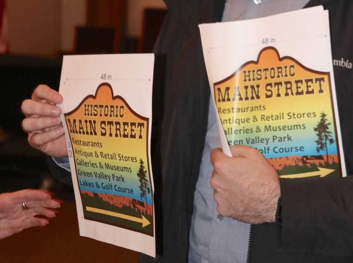 New sign to announce main street