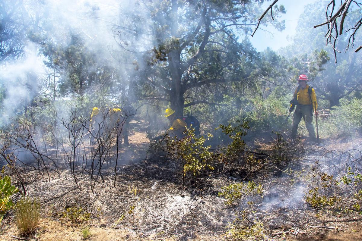 Illegal camp fire near Houston Mesa Road