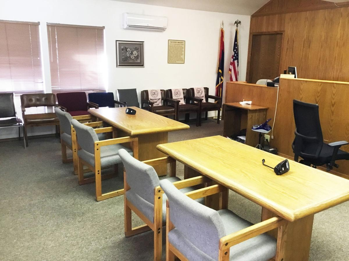 Interior Payson superior court room