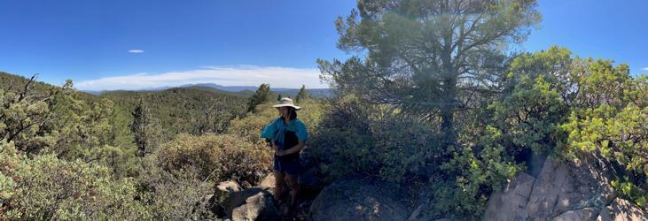 Panorama of Four Peaks to the Mazatzal Mountains