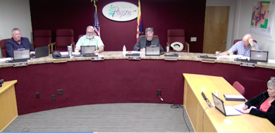 Town of Payson council meeting July 23, 2020 homeless warming center funding