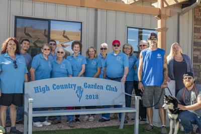 garden club gives bench to animal shelter