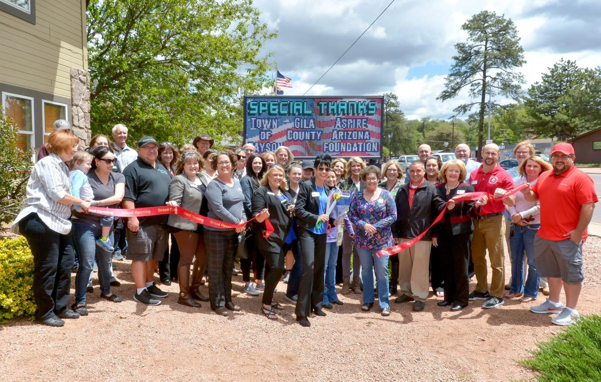 Rim Country Chamber new sign ribbon cutting