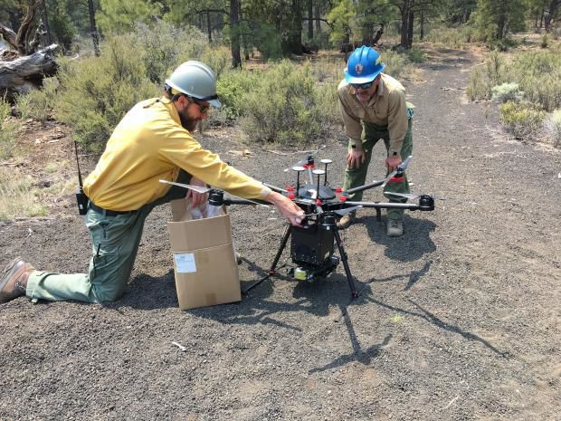 Maroon Fire Forest Service Drone