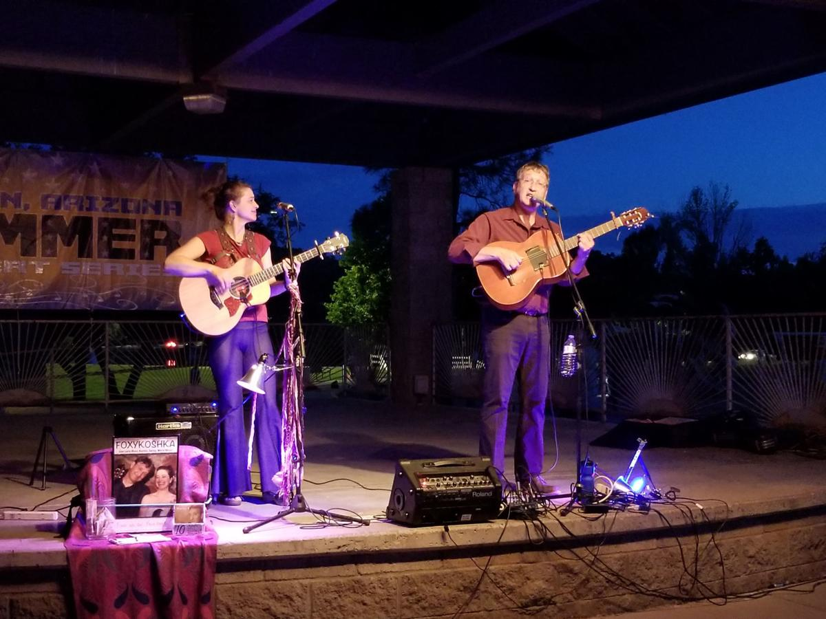 FoxyKoshka were the featured artists at Saturday's Concert in the Park
