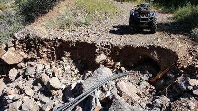 Fossil Creek cable washout