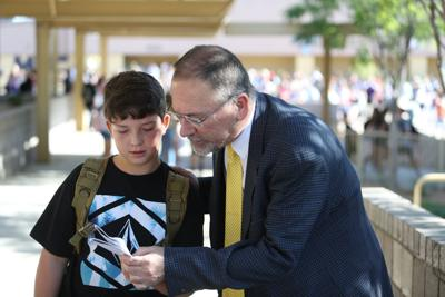 RCMS Stan Rentz Helps Student (copy)