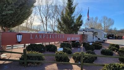 Close Up Lamplighter sign