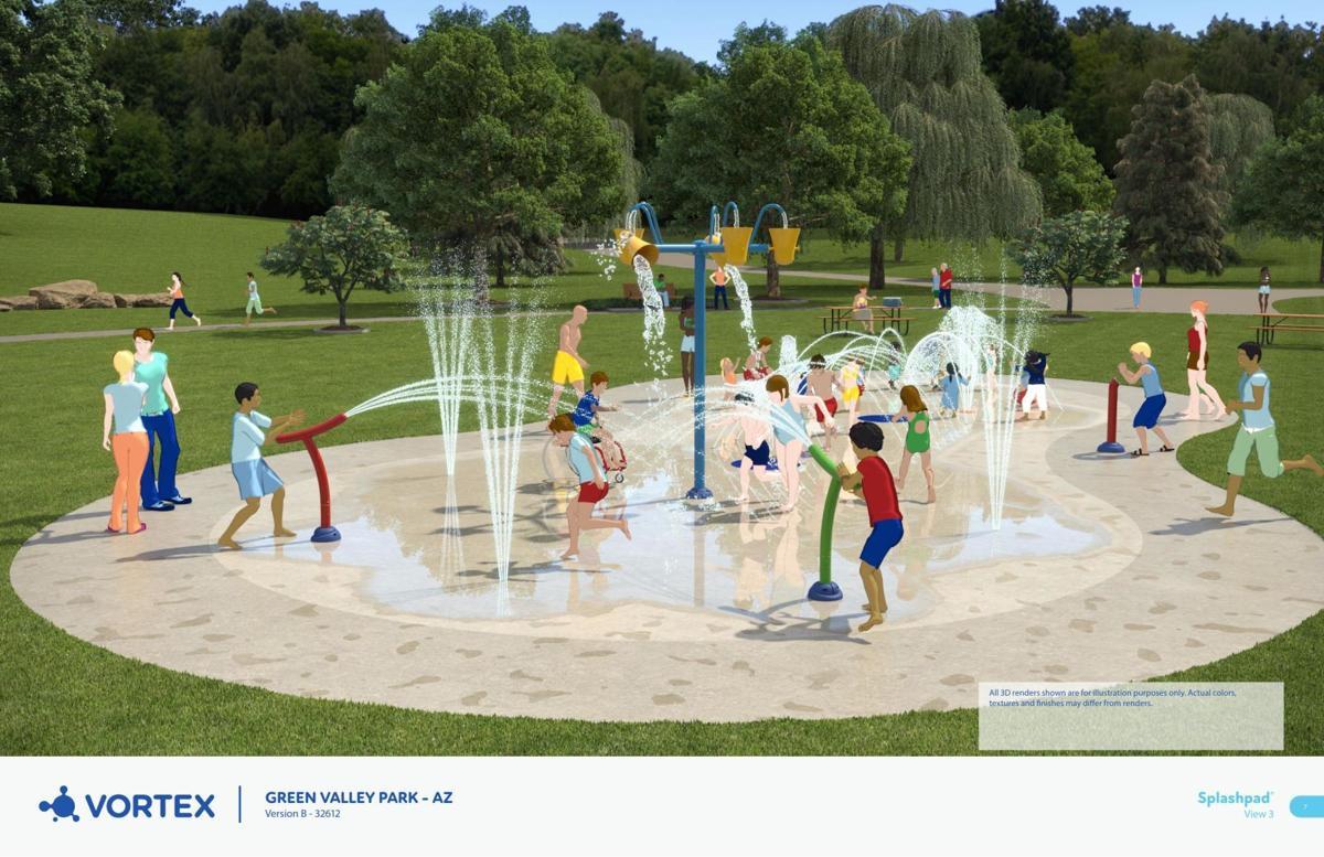Proposed splash pad equipment