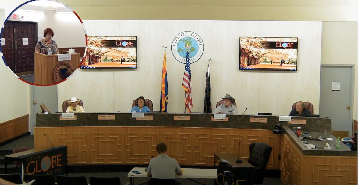 Screen shot of Yahoo live stream debate of Gila County Supervisors
