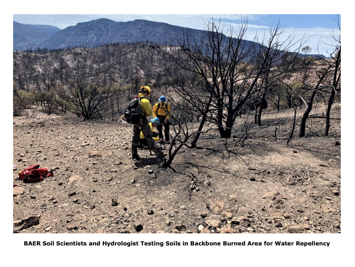 Backbone BAER scientists test soil