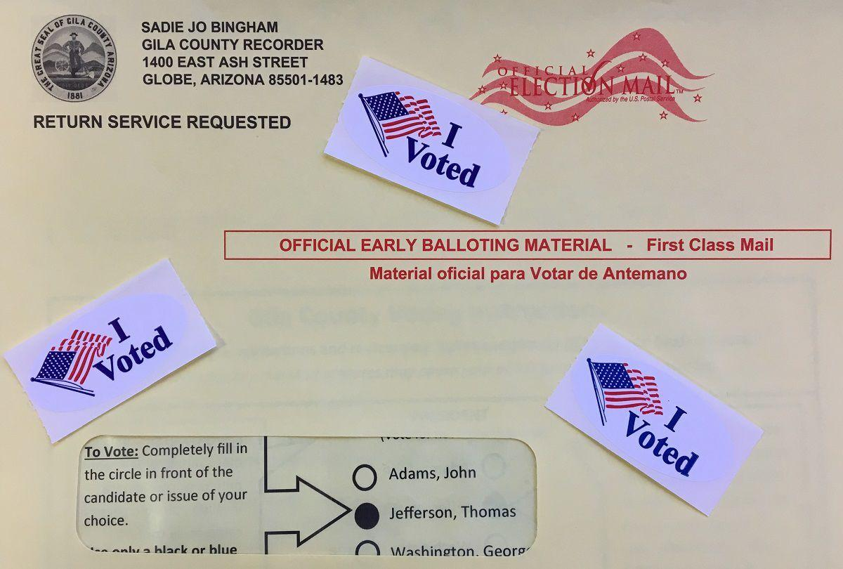 Gila County early vote ballot