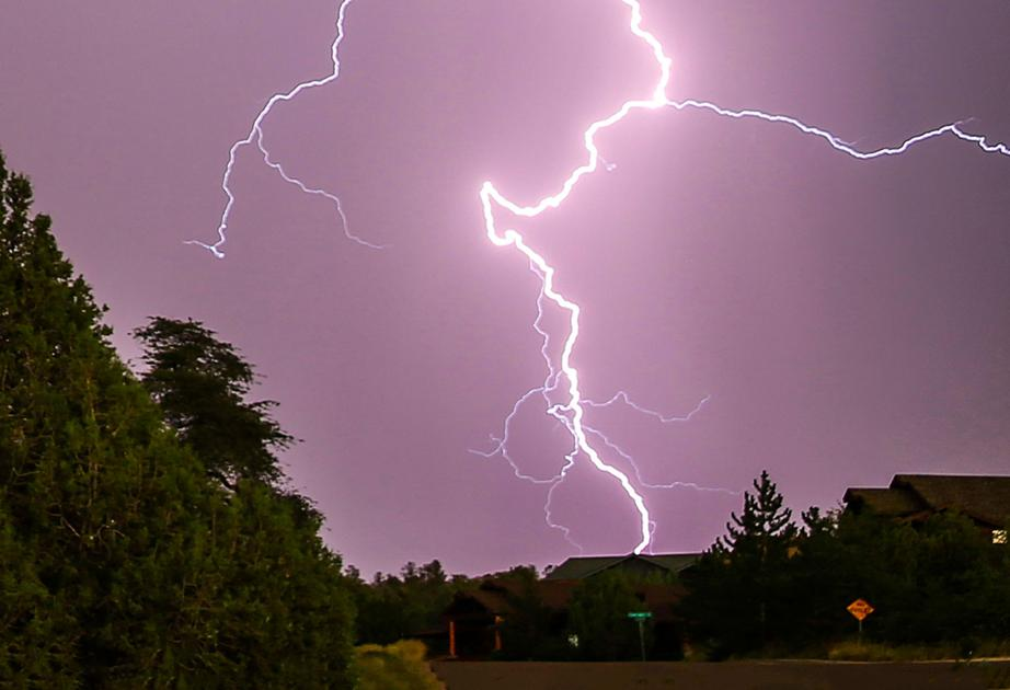 Lightning strikes two building Wednesday