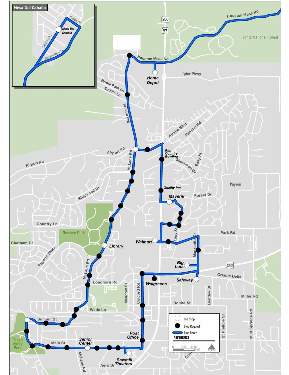 beeline bus new blue route map | local news