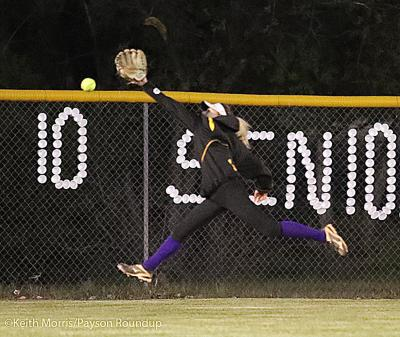 Softball Missed Outfield Catch Vs Show Low Senior Night