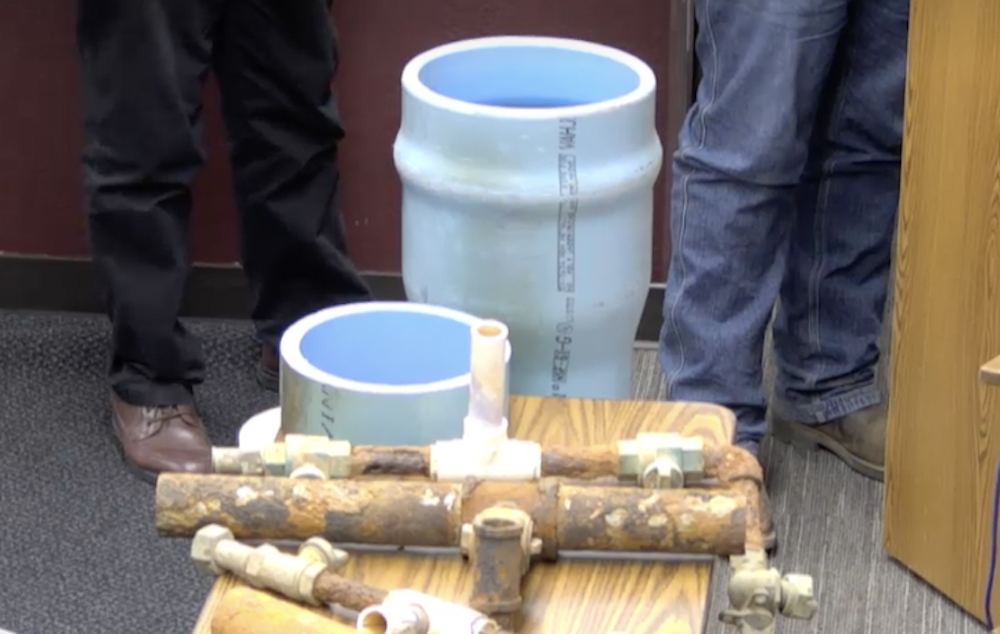 Old and new Payson water pipes