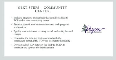 Next steps Community Center slide 2.