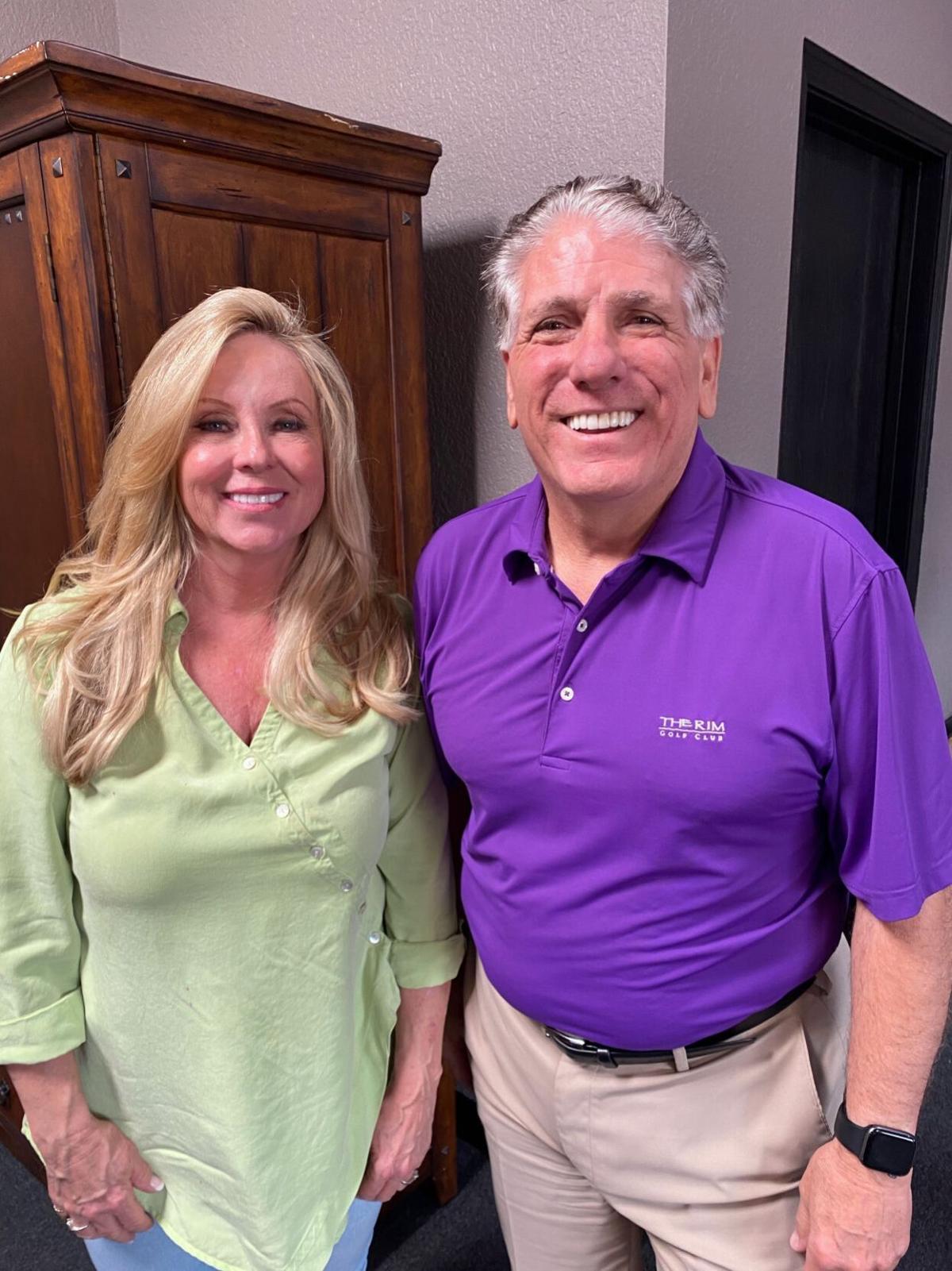 Brenda and Dennis Rioccio in their Swiss Village office