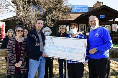 2020 camera club donation to st. paul's food bank