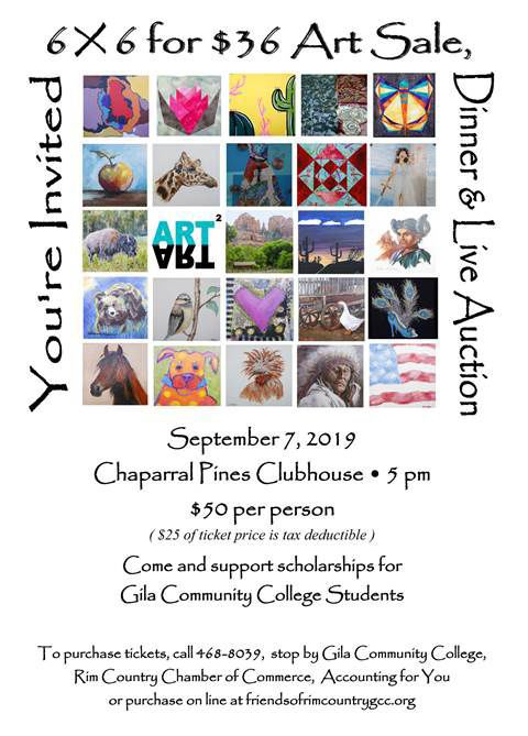 Art Squared Art Sale, Dinner & Live Auction flyer