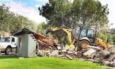 Demolition Green Valley Park building for splash pad