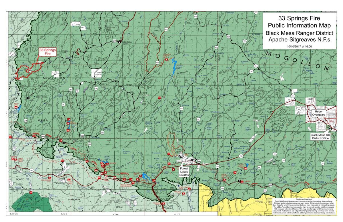 Grand Lake Fire Map.33 Springs Fire Public Information Map 10 10 2017 At 4pm