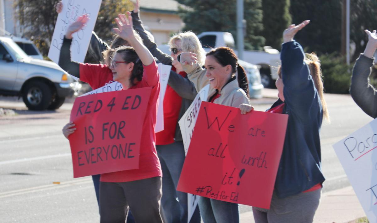 Payson teachers mull over a strike on Thursday, April 26