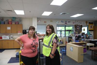 JRE Open House Preschool Teacher Tanya BeGell and Principal Linda Scoville