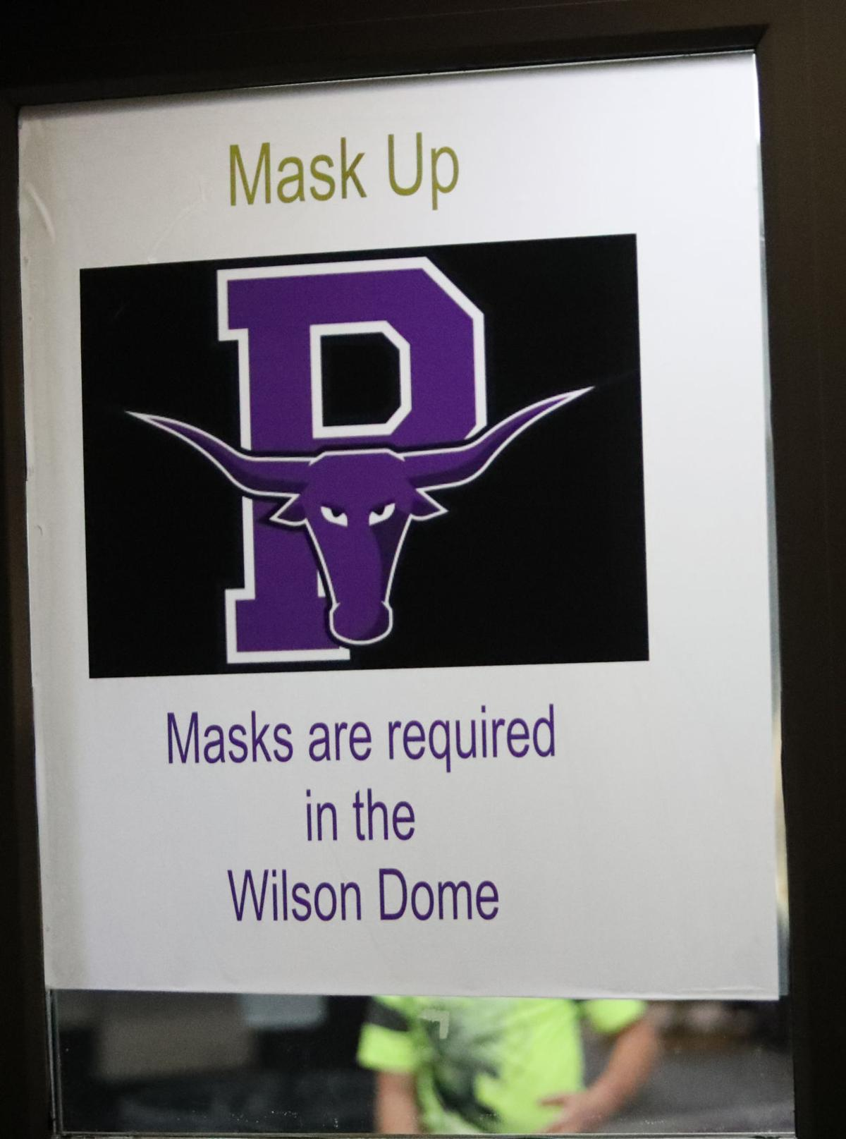 Mask Up Sign At Wilson Dome
