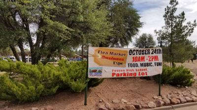 Business Expo Flea Market Sign