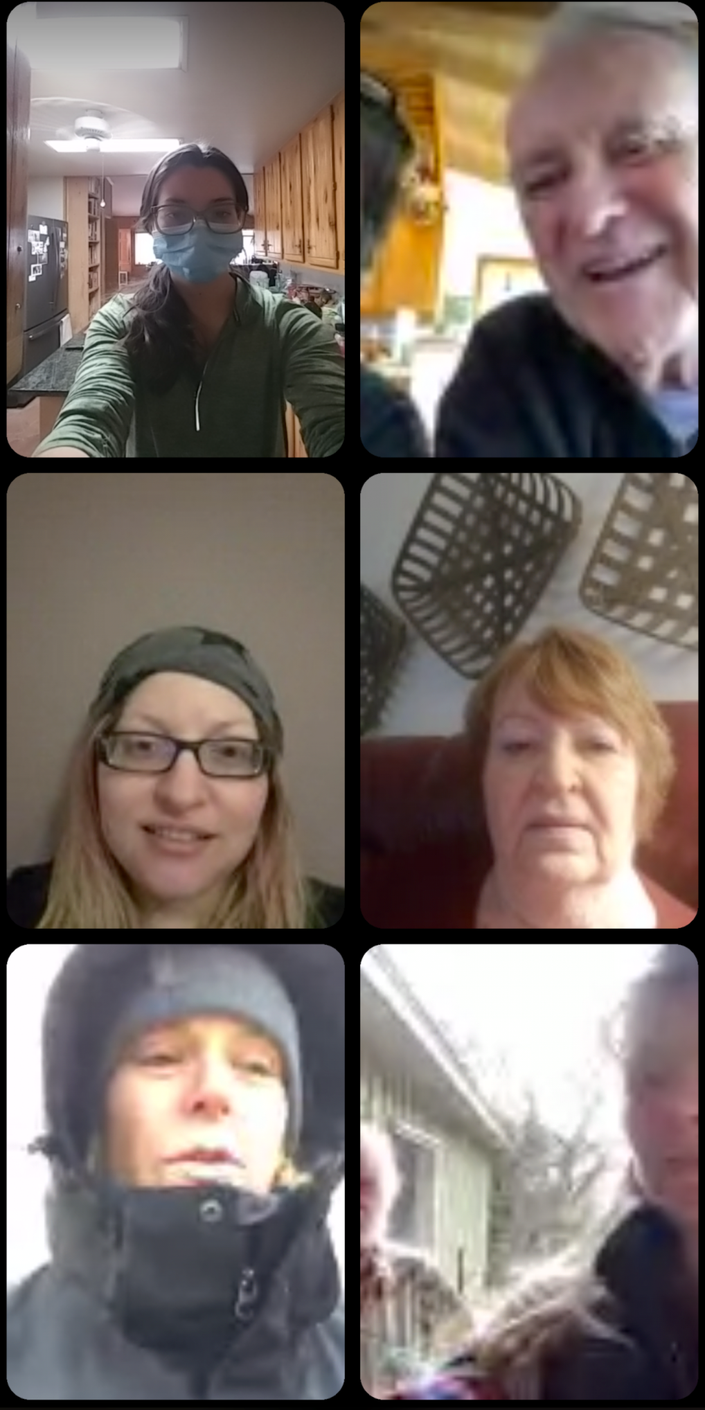 Family Zoom call