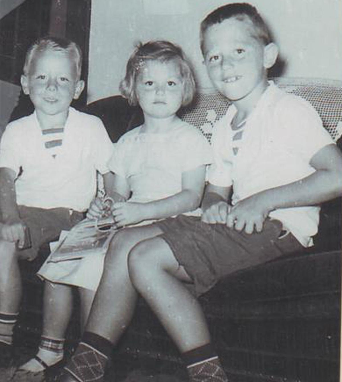 Jim West with brother and sister