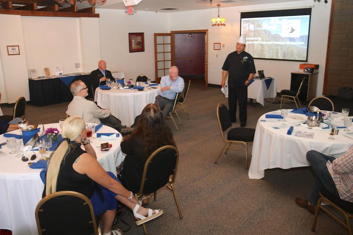 Chef Randy Ortega address Aug. 2021 Chamber breakfast members