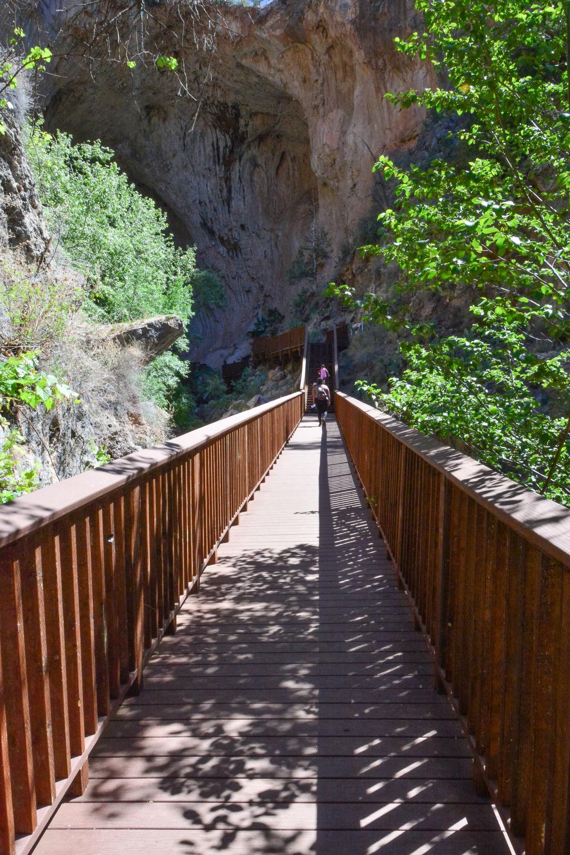 Tonto Natural Bridge New Walkway now needs replacing