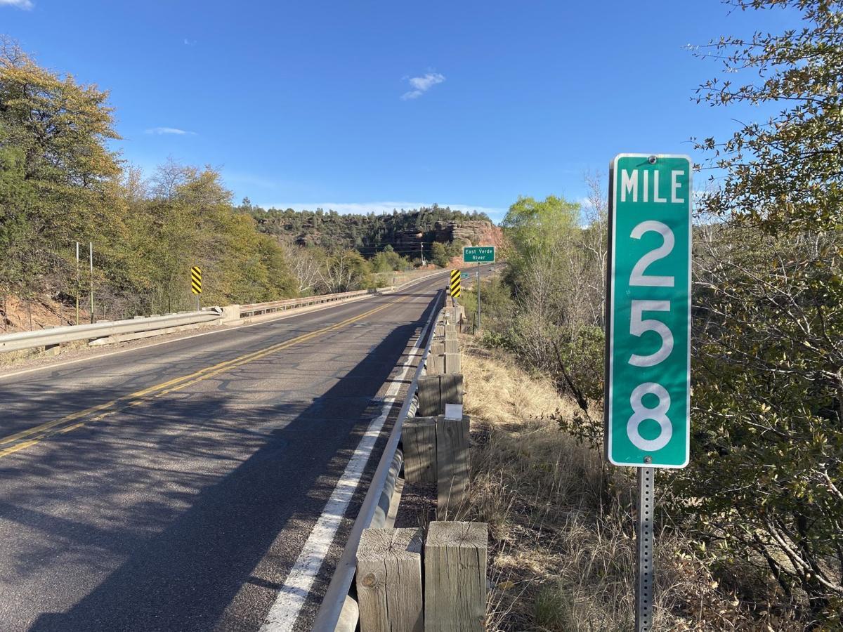 Mile marker 258 on Hwy 87/260